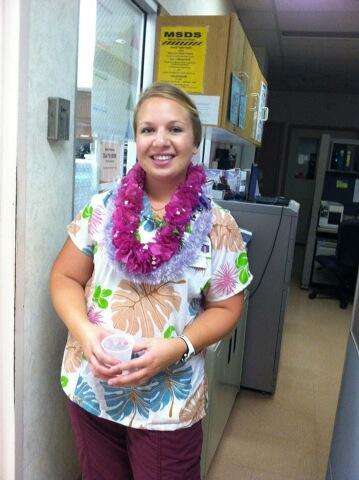 Amanda at at Wilcox Memorial Hospital in Lihue, Hawaii
